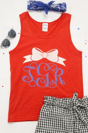 Classic Bow Personalized Graphic Tank