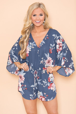 Tell Me Something New Floral Romper