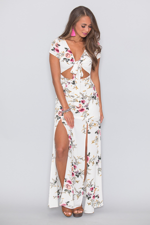 Beautiful Sunrise Floral Maxi Dress