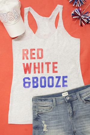 Red White And Booze Graphic Tank