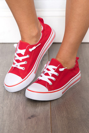 The Suzie Sneakers Red