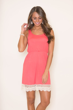 Bound To You Coral Dress