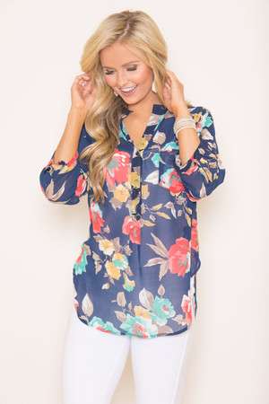 Always On My Mind Floral Blouse