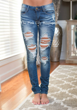The Madison Extreme Distressed Machine Jeans