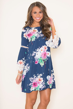 Coastal Sunset Floral Dress