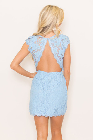 Forever Divine Periwinkle Lace Dress