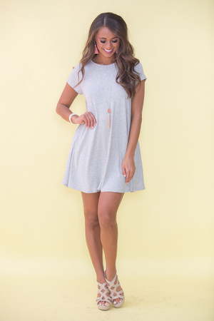 Let's Just Relax Grey Dress