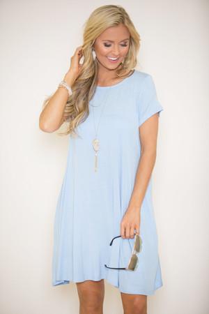 Let's Just Relax Light Blue Dress
