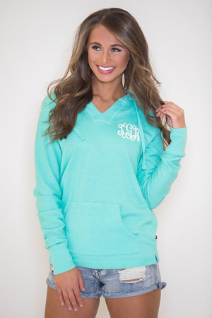 True Colors Vinyl Monogram Hoodie Mint