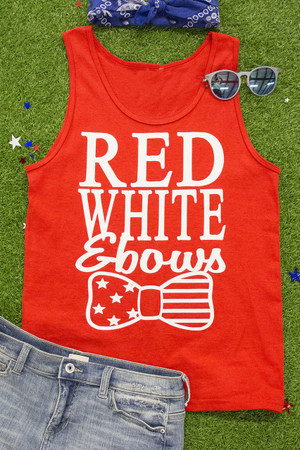Red, White, & Bows Vinyl Tank