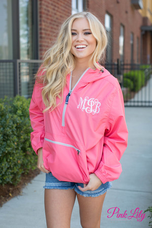 Personalized New Englander Pullover Coral