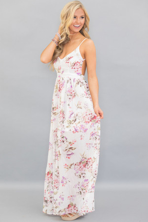 Heaven On Earth Maxi Dress Ivory
