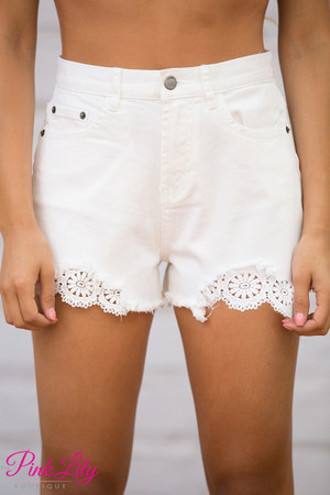 Take The Lead White Shorts CLEARANCE