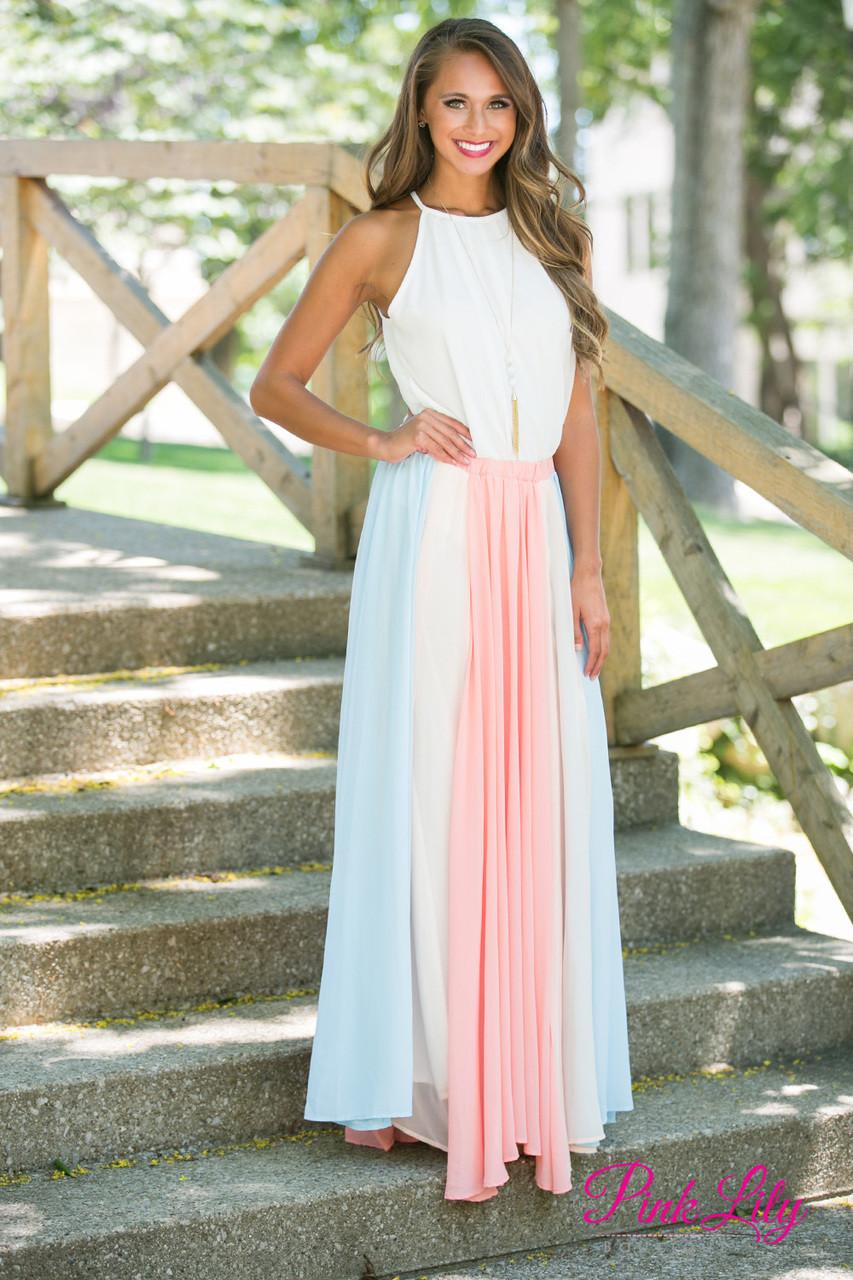 Pastel striped skirt