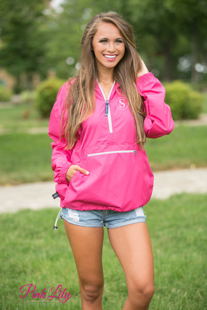 Personalized New Englander Pullover Hot Pink