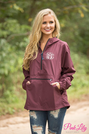 Personalized New Englander Pullover Maroon