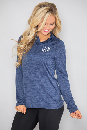 Monogrammed Active Pullover Navy