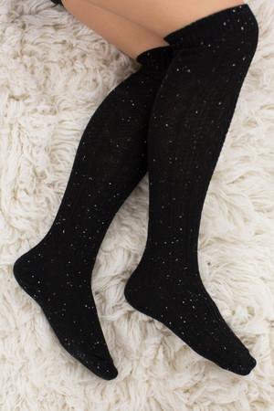 Frosty Mornings Boot Socks Black