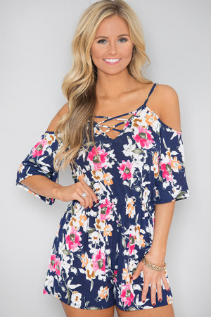 Music On My Mind Floral Romper