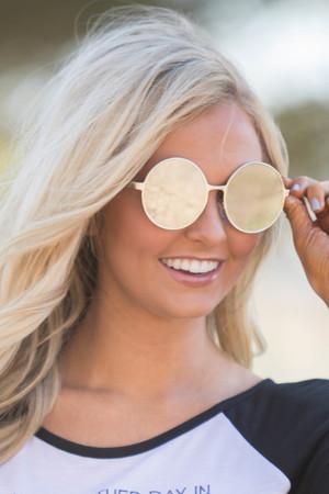 Chasing The Sun Round Sunglasses Mirrored