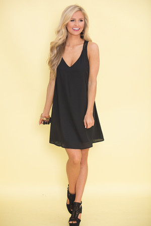 Reach For The Sky Dress Black