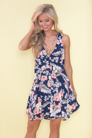 Aloha Days Floral Dress
