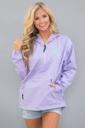 Personalized Pullover Rain Jacket Lilac