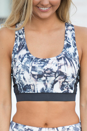 Shoot For The Moon Printed Sports Bra