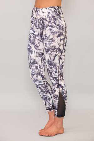 Shoot For The Moon Printed Athletic Capris