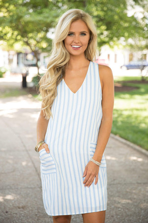 There's No Better Time Striped Dress CLEARANCE