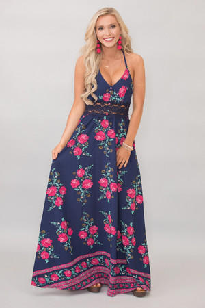 This Story Never Ends Maxi Dress Navy