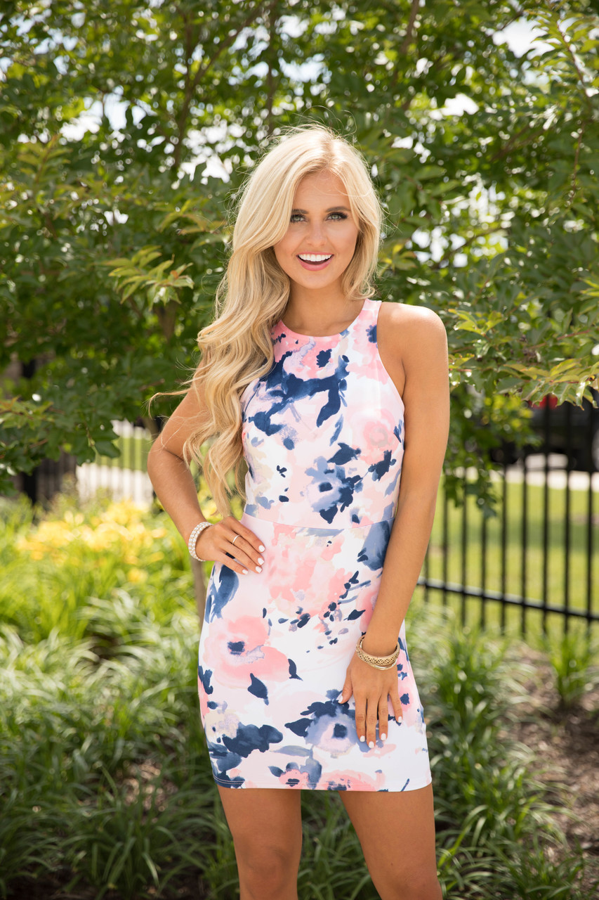 at first glance floral dress