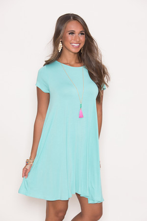 Let's Just Relax Mint Dress