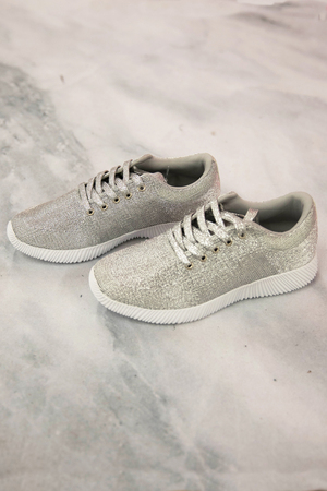 The Diana Sneakers Metallic Silver