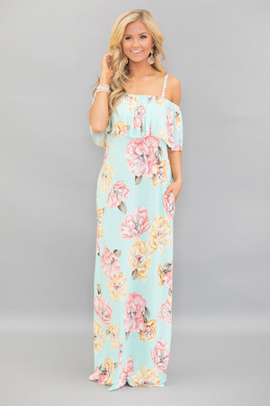 Wishing For California Floral Maxi Dress