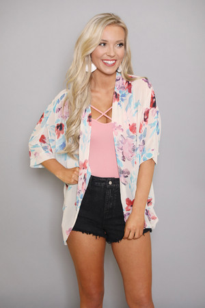 Expression Of My Heart Floral Kimono