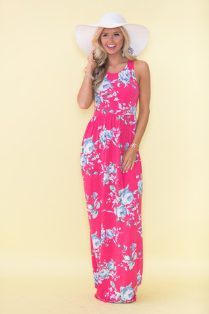My Only Wish Maxi Dress Hot Pink