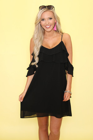 Let My Heart Glow Dress Black