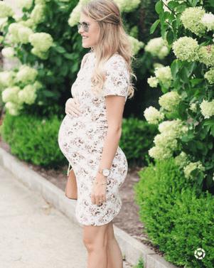 Lasting Memories Maternity Dress Ivory