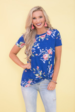 Never Been Sweeter Blouse Royal Blue