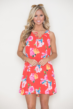 Hawaiian Bliss Floral Dress