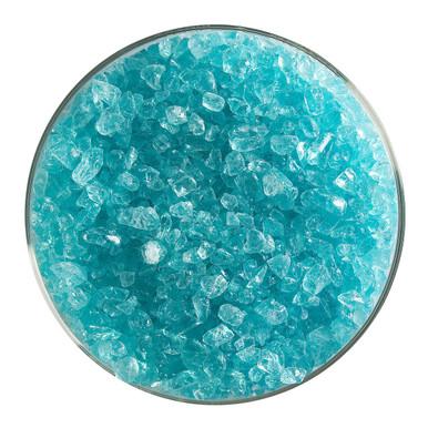 Bullseye Glass Aqua Blue Transparent Tint, Frit, Coarse, 5 oz jar 001808-0003-F-OZ05