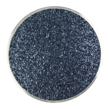 Bullseye Glass Aventurine Blue Transparent, Frit, Fine, 1 lb jar 001140-0001-F-P001