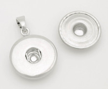 Cabochon Snap & Switch Necklace Pendant (no chain) with One Flat Disk