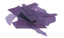 Deep Royal Purple Transparent, Confetti, 4 oz jar