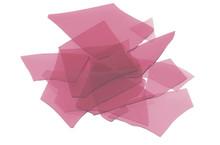 Cranberry Pink Transparent, Confetti, 4 oz jar