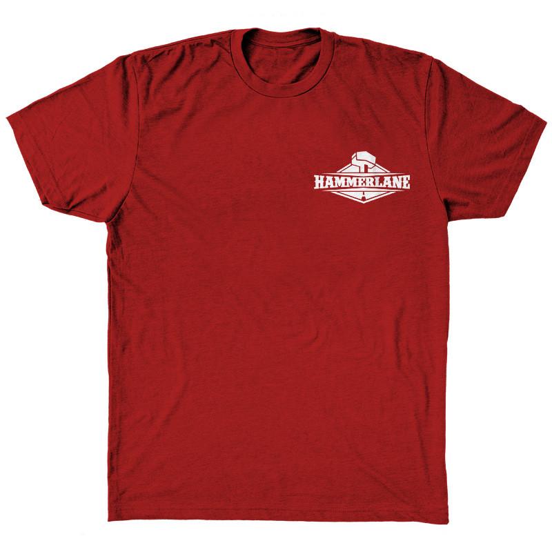 Cattle Drive Hammer Lane Trucker T-Shirt Front