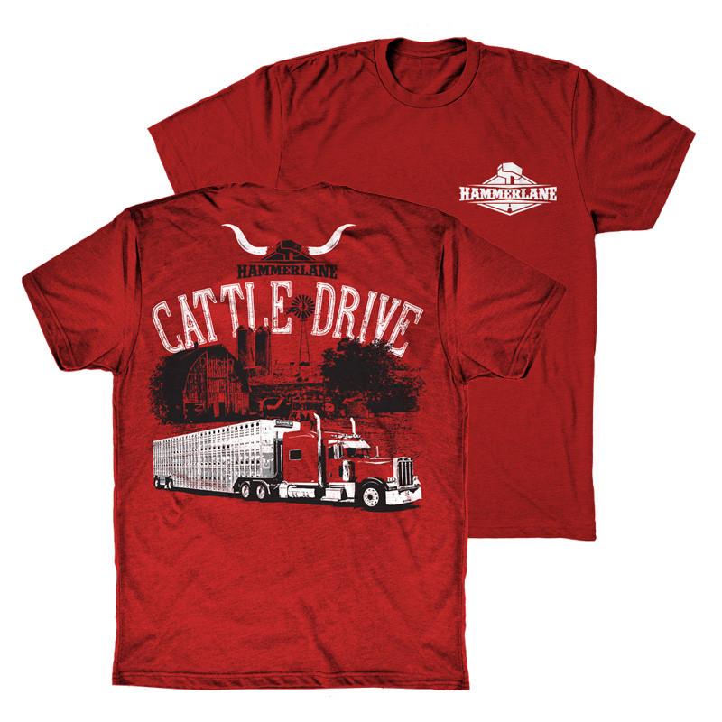 Cattle Drive Hammer Lane Trucker T-Shirt