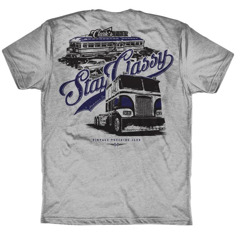 Stay Classy Hammer Lane Trucker Pocket Tee Shirt Back