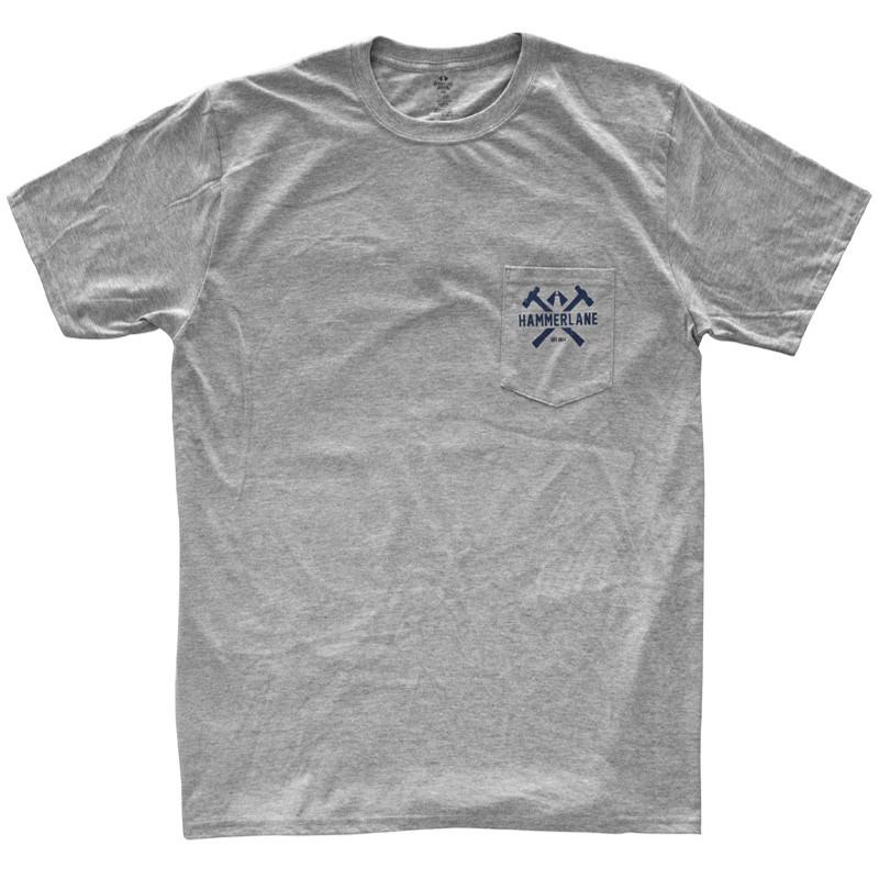 Stay Classy Hammer Lane Trucker Pocket Tee Shirt Front